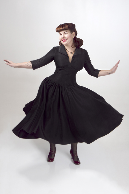 Beautiful, victory rolls, hair, pinup, redhead, red,