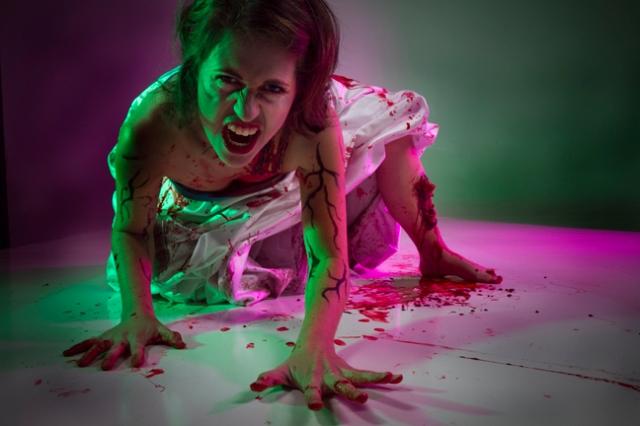 Zombie wreck the wedding dress