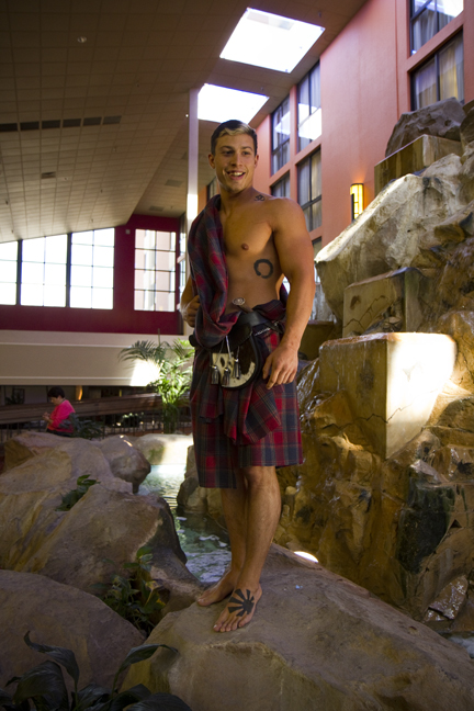 Derek Htuchins kilt male model by Jenn LeBlanc