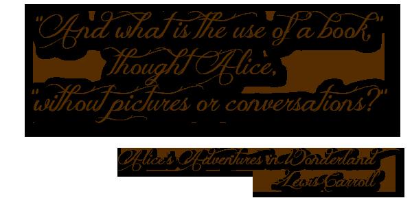 Alice in Wonderland Quote Jenn LeBlanc Illustrated Romance