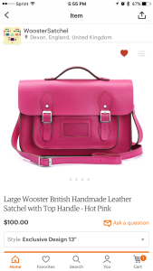 Large British Wooster Satchel