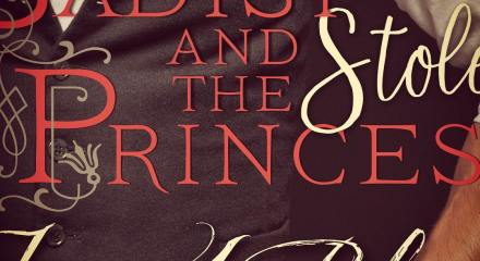 Sneak Peak of the cover for Madoc's book, Image of part of the cover, the words are cut off but read : The Sadist and The Stolen Princess